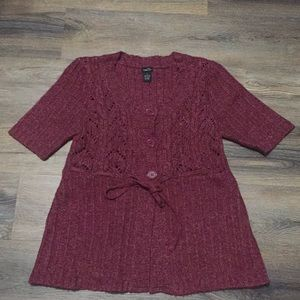 Women's Short Sleeved Cardigan Size XL